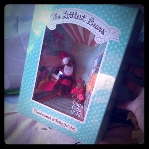 Vintage Gund The Littlest Bears Santa Claus & Elf